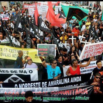 marcha contra genocidio pop negra