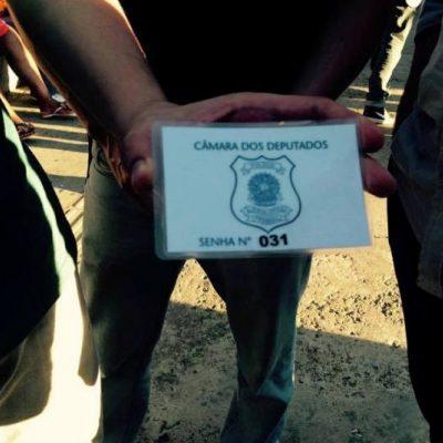 A única senha enviada por Eduardo Cunha para mais de 500 manifestantes