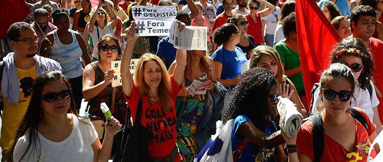 Manifestações contra o golpe liderado por Temer se espalham pelo país (foto: Tomaz Silva/Agência Brasil)