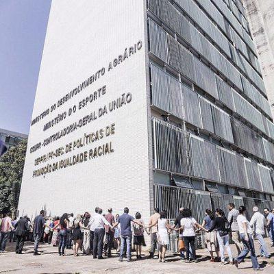 Manifestantes protestam contra o fim do Ministério do Desenvolvimento Agrário / Mídia Ninja