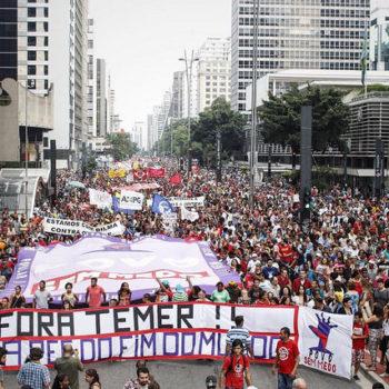 Ato contra a PEC 55 reuniu cerca de 40 mil pessoas em São Paulo (Foto: José Eduardo Bernardes/Brasil de Fato)