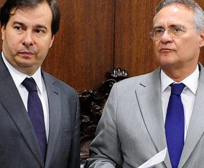 O presidente da Câmara Rodrigo Maia e o presidente do Senado Renan Calheiros (Foto: Agência Senado)