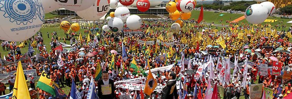 Centrais sindicais em Brasília (Foto: Divulgação)