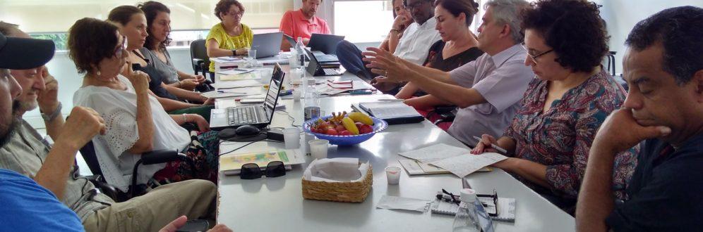 Reunião do Comitê Facilitador (Foto: Maíra Vannuchi / Abong)