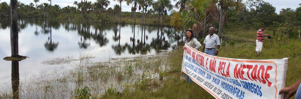 Cerrado: Lagoa da Princesa, município de Diamantino (MT), uma das 7 nascentes do rio Paraguai, está contaminada por agrotóxicos (Foto: João Inácio Wenzel/FORMAD)