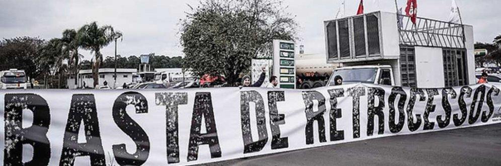 Centrais sindicais realizam paralisações contra a perda de direitos em todo país