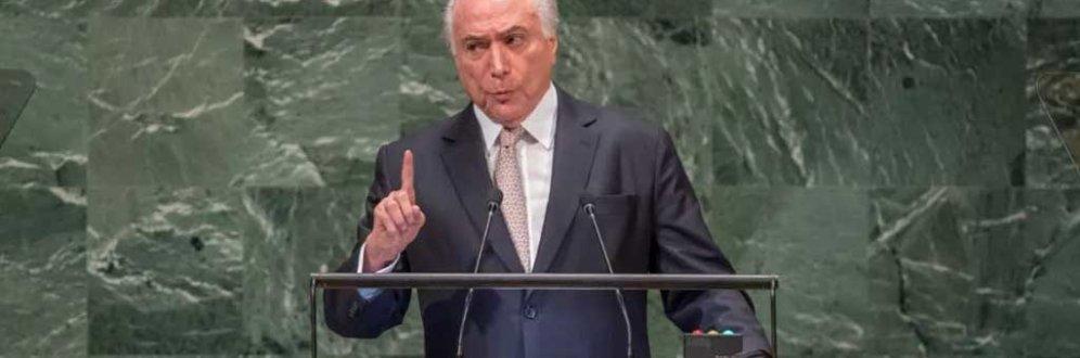 As tendências e mentiras de Temer em sua despedida na ONU Foto: UN Photo/Cia Pak