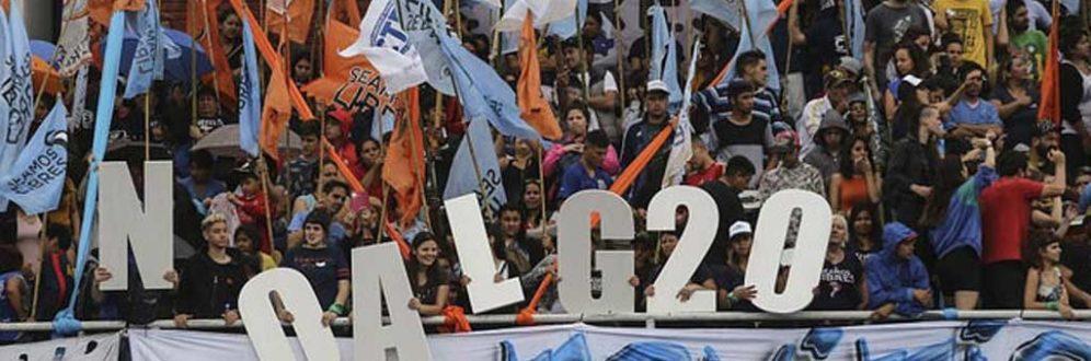 Movimentos preparam protestos contra a Cúpula do G20 em Buenos Aires Foto: Notícias argentinas