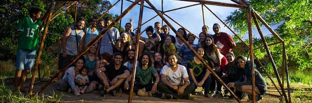 Mutirão constrói abrigo em terra indígena para militantes dos povos originários no DF Foto: Mutirão do Bem-Viver/Divulgação
