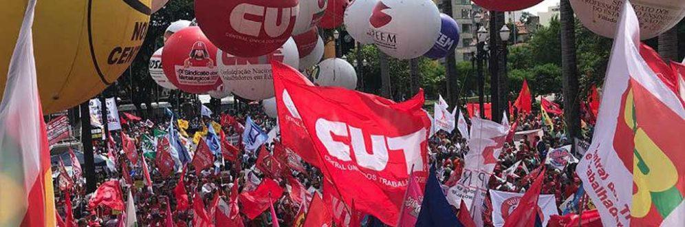 Unificados, trabalhadores dizem não à reforma da Previdência de Bolsonaro Foto: Roberto Parizotti /CUT